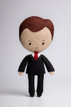Mycroft Holmes poseable plush from Sherlock - handmade doll