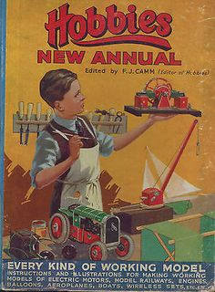 Vintage Childrens HOBBIES new annual for 1930s - F.J.CAMM - Good - Hardcover