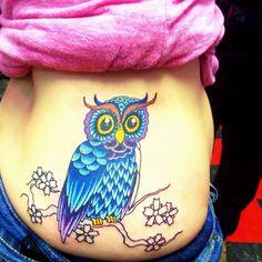 Owl Tattoo - Eternal Ink Tattoo Studio Hecker,IL 62248