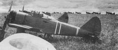 Japanese Army Ki-27 aircraft at an airfield in northeastern China, 1939