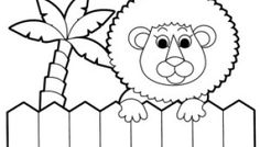 Lion zoo coloring pages online free printable