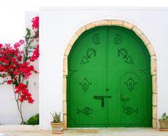 Tunisie - Porte traditionnelle d'une maison