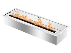 EHB2400  Eco Hybrid Bio Ethanol Burner Ventless Ethanol Burner Insert ** Learn more by visiting the image link. Note: It's an affiliate link to Amazon.