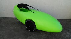 Custom Trisled Rotovelo Velomobile by Utah Trikes - check out all our special projects and custom builds Tap Shoes, Dance Shoes, Custom Trikes, Bright Green, Fun, Dancing Shoes, Fin Fun, Lol, Funny