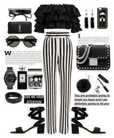 """Untitled #146"" by xenia-fashionista ❤ liked on Polyvore featuring Dolce&Gabbana, Boohoo, Yves Saint Laurent, Fendi, Belk & Co., MICHAEL Michael Kors, Bobbi Brown Cosmetics, Chanel, Fallon and Michael Kors"