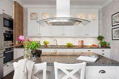 W domu Marty: Ściana z cegły w kuchni