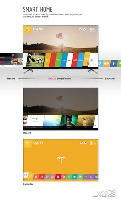 LG WebOS TV Interface | Smart TV Interface / GUI | Beitragsdetails | iF ONLINE EXHIBITION