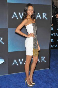 zoe saldana style   my chic my way: Fashion File: Zoe Saldana