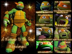 Mikey has another message for someone! by Ayyy-Imma-Ninja on DeviantArt Ninja Turtles Cartoon, Ninja Turtles Art, Teenage Mutant Ninja Turtles, Tmnt Mikey, Tmnt Leo, Miguel Angel, Tmnt Girls, Tmnt Comics, Make Funny Faces
