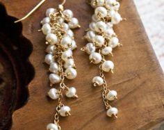 Pearl Drop Earrings Bridal Jewelry Wedding Earrings