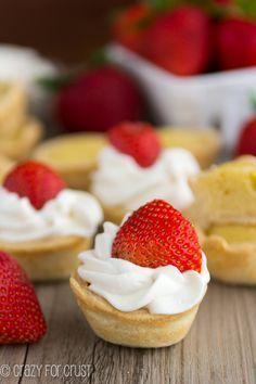 Mini Strawberry Shortcake Pies - the BEST way to eat strawberry shortcake!