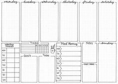 free bullet journal printable from The Petite Planner: weekly spread Bullet Journal 2019, Bullet Journal Hacks, Bullet Journal Notebook, Bullet Journal Spread, Bullet Journal Ideas Pages, Bullet Journal Printables, Bullet Journals, To Do Planner, Planner Pages