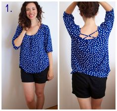 Love the top! Bright color, blousy, could work in my office in summer and in winter. via The Baker Chick