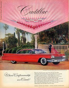 Fabulous vintage ad for Cadillac