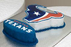 Our Houston Texans groom's cake, My hubby loved this!  #HoustonTexans #weddingcake #groomscake