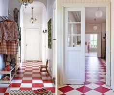 Inspirations Sol Damier Carrelage Rouge Renovation Maison Et Sol Rouge