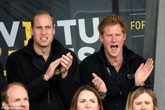 William, seen here with Harry in is stilted and in interview awkward and rigid - having grown up in a fishbowl with the weight of knowing he will be King. His future is like a noose Prince Henry, Prince William And Catherine, Good Morning America Hosts, Harry Birthday, Piers Morgan, Invictus Games, King Henry, Princess Kate, Royals