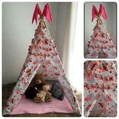 TEEPEE = cabana /tenda = Altura: 180.00 cm Largura: 120.00 cm Comprimento: 120.00 cm Peso: 2300 g