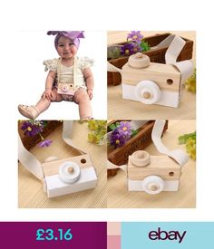 Other Toys & Activities Wooden Camera Cam Toy Children's Travel Home Decor Gifts For Children Kids #ebay #Home & Garden