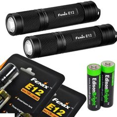 Special Offers - 2 Pack Fenix E12 CREE XP-E2 130 Lumen LED flashlight with two EdisonBright AA alkaline batteries. E11 upgrade - In stock & Free Shipping. You can save more money! Check It (September 11 2016 at 06:23AM) >> http://flashlightusa.net/2-pack-fenix-e12-cree-xp-e2-130-lumen-led-flashlight-with-two-edisonbright-aa-alkaline-batteries-e11-upgrade/