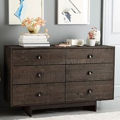 master? eco friendly $1000 Emmerson 6-Drawer Dresser - Chestnut #westelm
