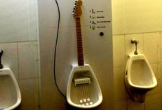 "the real way to ""Rock A Piss"" ---#guitar #strange #weird #music"