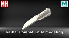 How to model a 3D Ka-Bar COMBAT KNIFE in Maya 2018