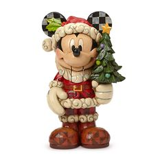 Disney Store Santa Mickey Mouse ''Old St. Mick'' Nutcracker Figure by Jim Shore