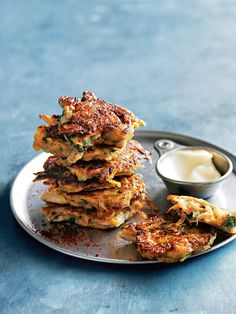 chicken, pumpkin and sumac fritters