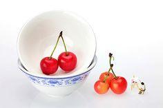 An Artist Painting Cherries Miniature Art