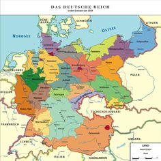 Map Greater German Reich (Kapp-Putsch) by TiltschMaster on DeviantArt European History, World History, World War Ii, History Of Germany, Alternate History, Historical Maps, Empire, Deviantart, Prussia