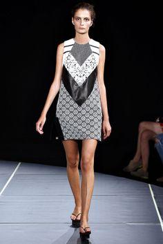 Look 10 Jen Kao Spring 2013 #blocking prints