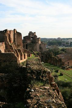 Imperial ruins on the Palatine Hill by arykmoore, via Flickr