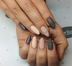 Beautiful Winter Sweater Nail Designs Ideas – Knitted nail art is perfect for winter and can easily carry you through all your holiday functions. New Year's Nails, 3d Nails, Love Nails, Pink Nails, Pretty Nails, Hair And Nails, Matte Nails, Acrylic Nails, Holiday Nails