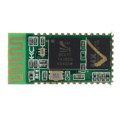 HC-05 Wireless Bluetooth Serial Pass-Through Module for Arduino - Green. Brand N/A Model HC-05 Quantity 1 Color Green Material The PCB + plastic + iron Features Wireless Bluetooth serial pass-through module Specification 1. Using mainstream CSR Bluetooth chip, Bluetooth V2.0 protocol standards; 2. Serial module operating voltage 3.3V, 10 meters from the general; Details see instructions in English Application All kinds of electronic products or DIY projects English Manual/Spec Have…