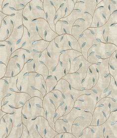 DINING ROOM - THE PERFECT BALANCE OF FORMALITY AND WHIMSY Fabricut Trend 02117 Robins Egg Fabric