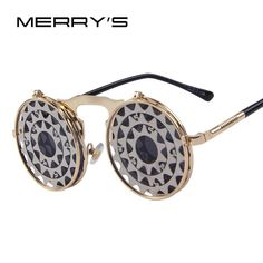 Steam Punk Gothic Vintage Clamshell Sunglasses