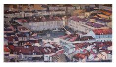 Avistando Lisboa.