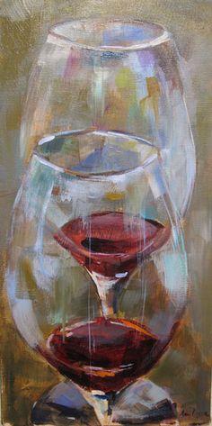 Wine Art -  Amy Dixon Fine Art - Current Paintings