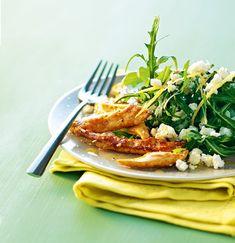 Salade de poulet au citron et à la feta