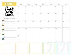 Free 2021 Monthly Goals Calendar Printable! - Printables and Inspirations Goal Calendar, Blank Calendar, Kids Calendar, Calendar Pages, 2021 Calendar, Wall Calendars, December Calendar, Monthly Planner Printable, Printable Calendar Template