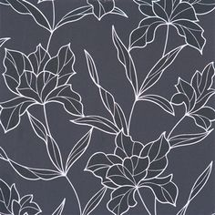 Black blossoming large floral wallpaper brings a dynamic sense of movement and growth in a range of spaces.
