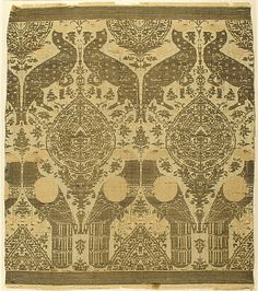 Textile with Animals Date: late 13th–early 14th century Geography: Made in Lucca, Italy Culture: Italian Medium: Silk, gold thread Accession Number: 31.69