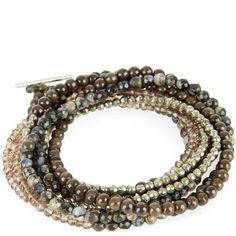 Hirshleifers - Brunello Cucinelli - Stone Beaded Wrap Bracelet (Chocolate), $740.00 (http://www.hirshleifers.com/brunello-cucinelli/women/jewelry/brunello-cucinelli-stone-beaded-wrap-bracelet-chocolate/)
