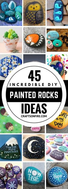 Absolutely the best painted rocks ideas I've seen yet! I can't wait to start painting all of them. These diy painted rocks are going to be so much fun. I can totally feel it! Definitely saving this for later.