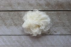 Ivory Chiffon & Lace Flower from Couture Craft Supply - Perfect for DIY Headbands and Accessories