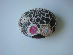 Crochet Covered Sea Stone