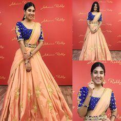 @harmannk4 in our #rosegold beauty!  Teamed up with a deep #royalblue #blouse & a #embellished #waist #belt ... #ashwinireddy #arbride #celebstyle #fashion #beauty #indianwedding #indianbride #indianfashion #celebstyle #sangeet #reception #bridal #instafashion #stylediaries