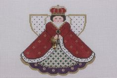 Painted Pony Designs Good to Be Queen Angel 996GG HP Needlepoint Canvas 18ct | eBay