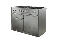The Stainless Steel finish available on all Mercury Range cookers is stunning on the 1200 dual fuel, giving it a crisp, cool contemporary look.